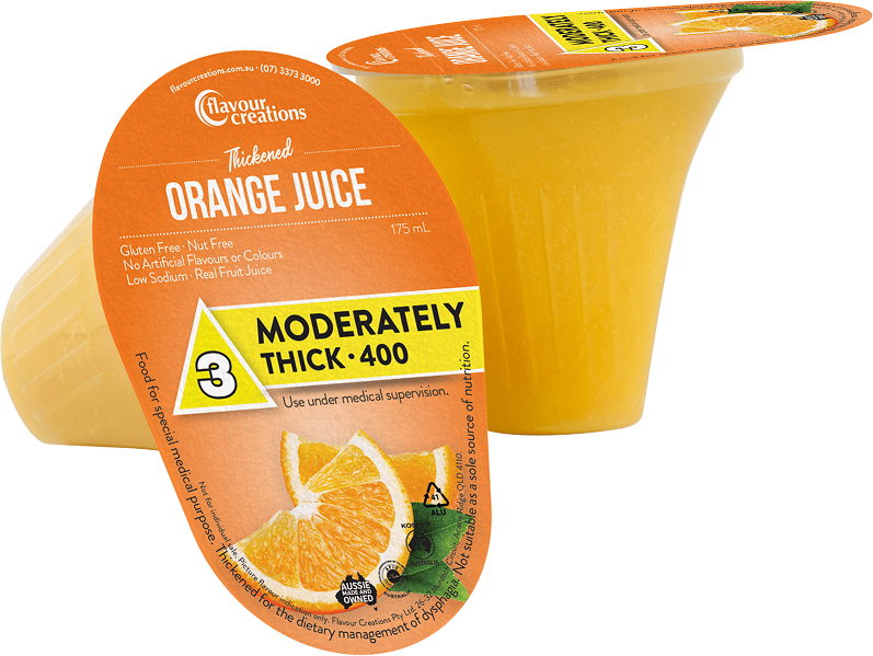 Flavour Creations Pre-Thickened Orange Juice Moderately Thick