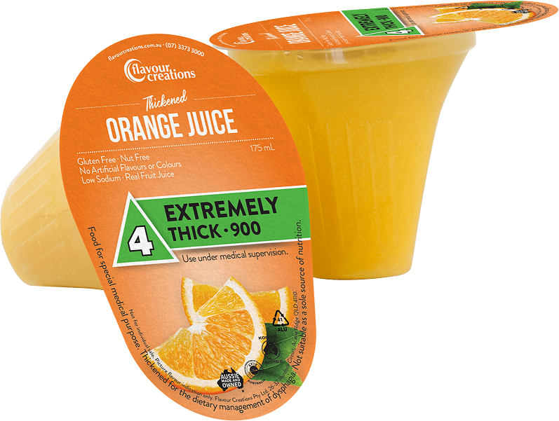 Flavour Creations Pre-Thickened Orange Juice Extremely Thick