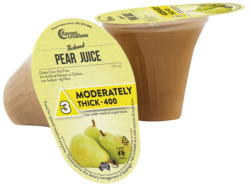 Flavour Creations Pre-Thickened Functional Pear Juice Moderately Thick