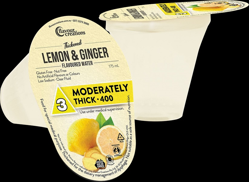 Flavour Creations Thickened Water Lemon and Ginger Moderately Thick
