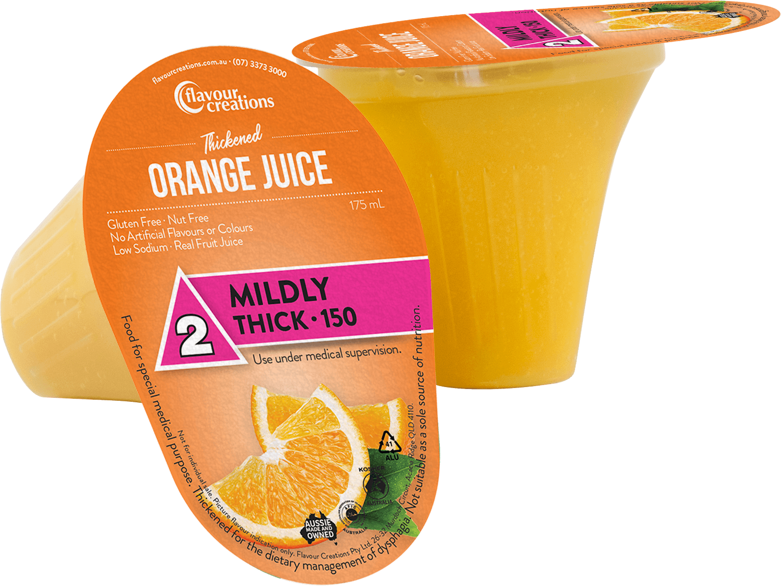 Flavour Creations Pre-Thickened Orange Juice Mildly Thick